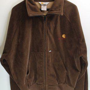 Carhartt Velour Mens XL Full Zip Sweatshirt Jacket